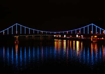 Multicolored backlight on the bridge №49379
