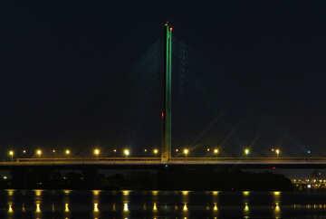 bridge and light reflected nights water №49248
