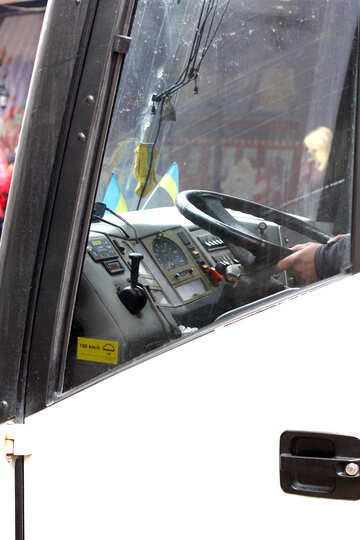 Cab of the bus №49435