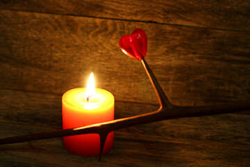 Candle and barbed branch №49225