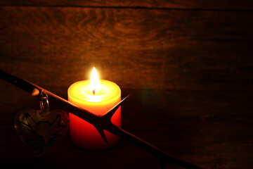 Candle and barbed branch №49226