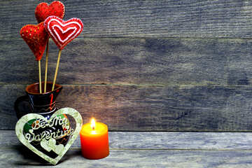Love background with candles