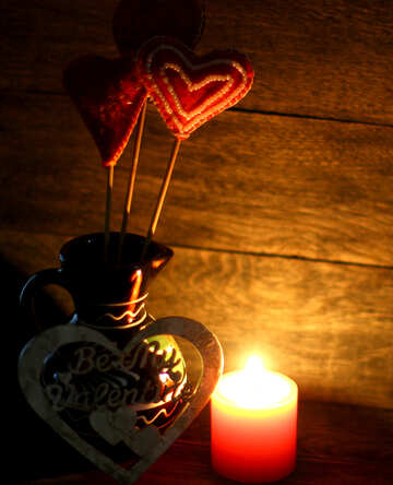 Candle and love heart №49217