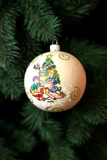 Рождественский шар орнамент №49392