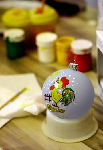 Рождественское украшение с курицей №49409