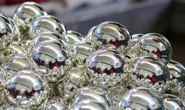 блестящие новогодние шары №49482