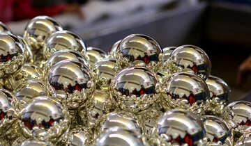 Блестящие рождественские шары №49483