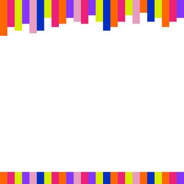 Colorful lines frame