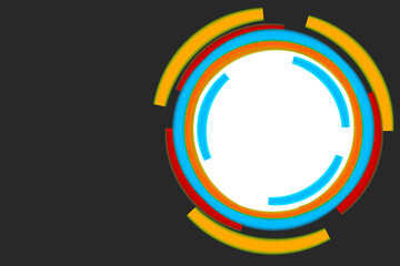 Infographics circle frame