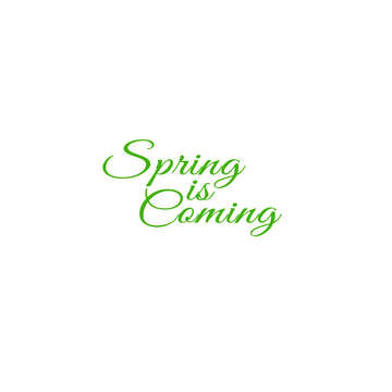 Lettering Spring is Coming №49676