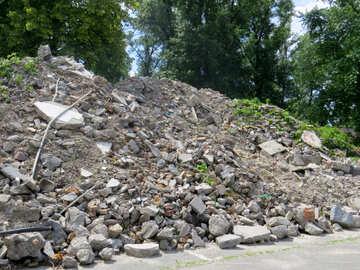 Mountain construction debris №49705