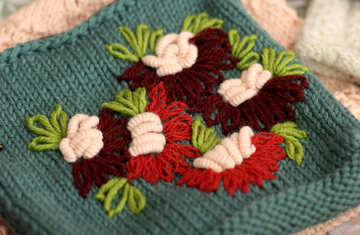 Knitted flowers №49139