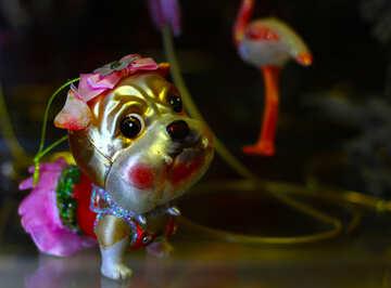 Dog Christmas  decoration for year dog №49509