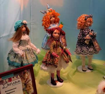 dolls wearing dresses №49066