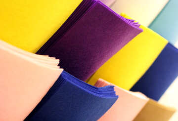 Coloured felt squares paper stoff №49152