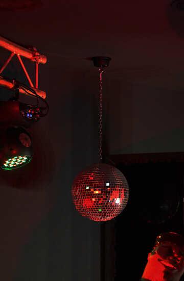 Glasball light ball mirror red №49297