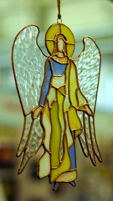 Stained glass. Angel of colored glass №49161
