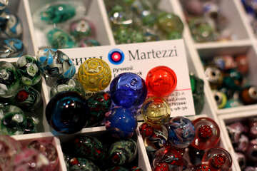 Glass colored handmade beads №49184