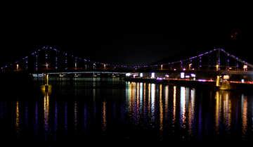 Lights night bridge №49261