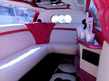 Luxury limo interior sofa bench №49005