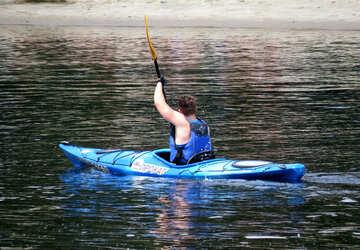 A man in a kayak №49918