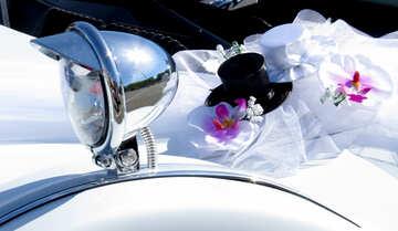 a marriage car wedding mirror dress decor №49020