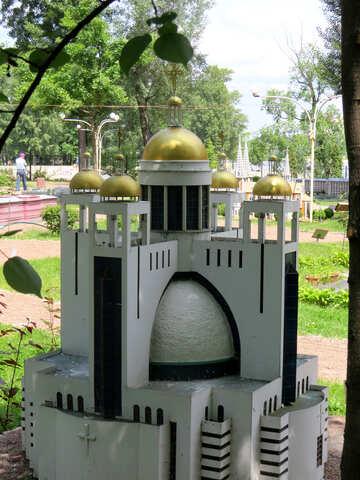 Model of a modern mosque №49906