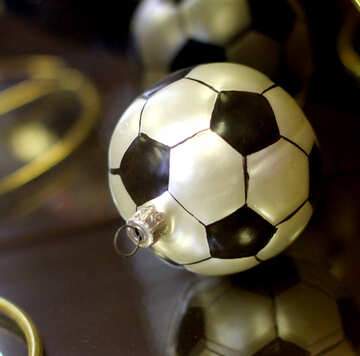 Congratulations to the football player Happy New Year and Merry Christmas №49523