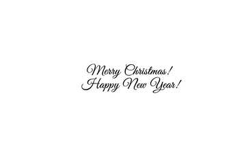 Beautiful inscription Merry Christmas and Happy New Year! №49653