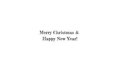 Beautiful inscription Merry Christmas and Happy New Year! №49654