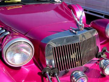Pink car hotrod №49004