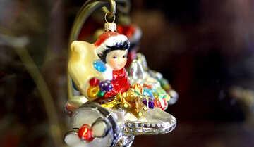 Девочка в самолете рождественское украшение №49521