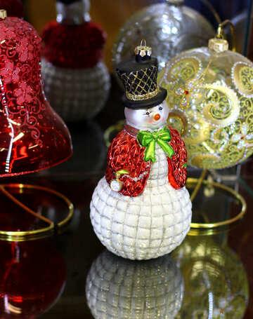 Снеговик рождественское украшение №49570
