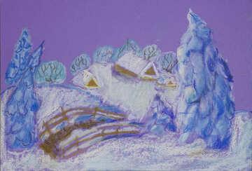 Snowy landscape №49239