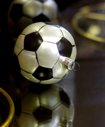 Christmas Decoration Soccer Ball №49524