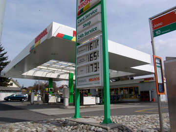 Petrol station in Europe №49935