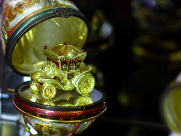 Christmas decoration carriage in the Golden Egg №49556