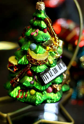 Christmas decoration musical tree №49533