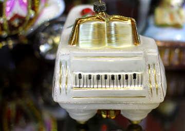 Christmas tree toy grand piano №49576