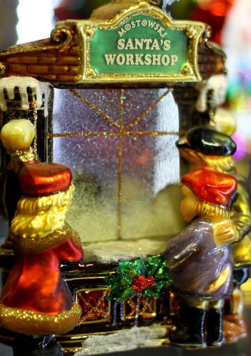 Factory of Christmas toys Santa Claus №49530