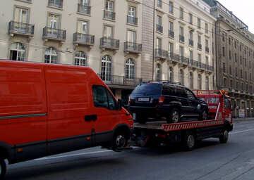 Abschleppwagen für zwei Autos №49942