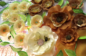 white and brown diy flowers №49090