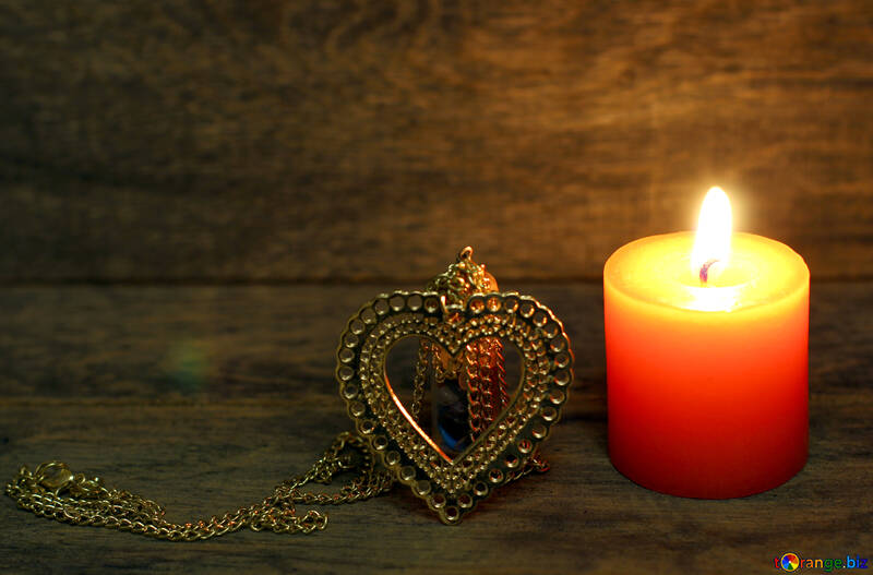 Candle heart №49223