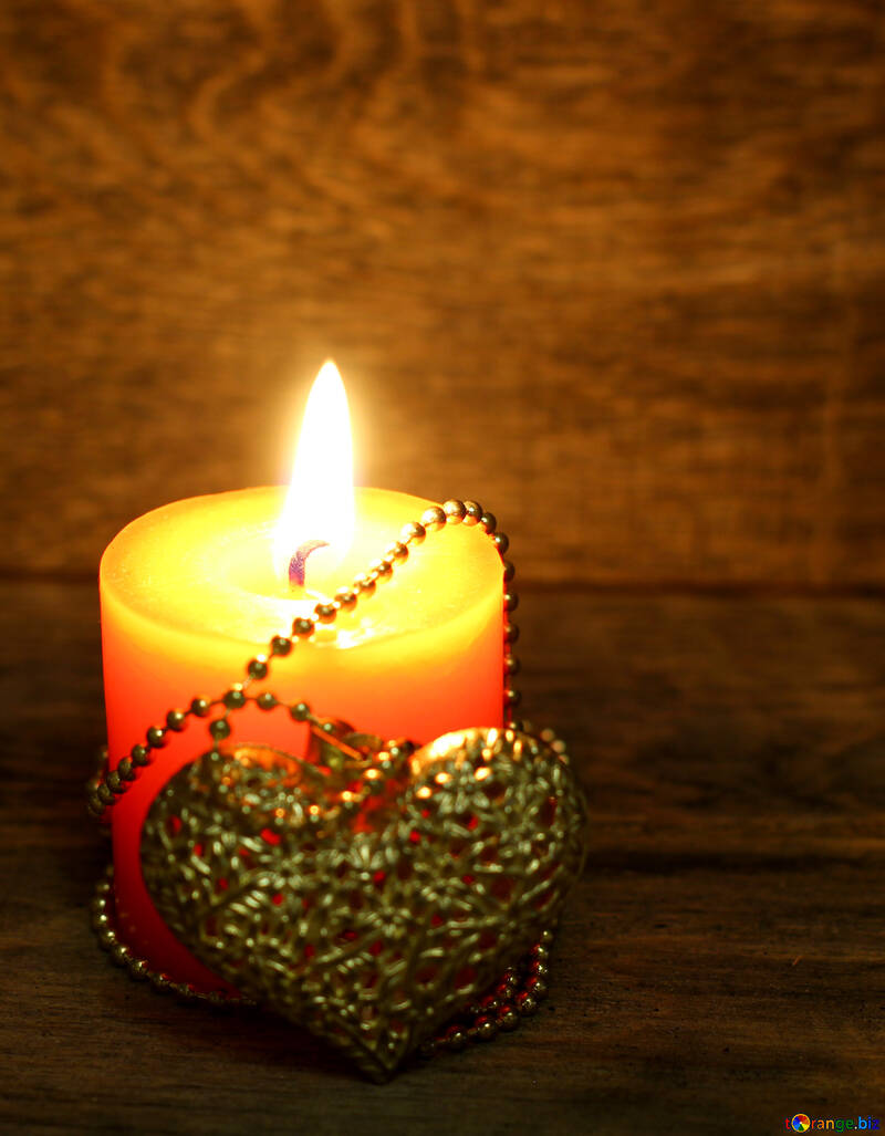 Candle heart №49224