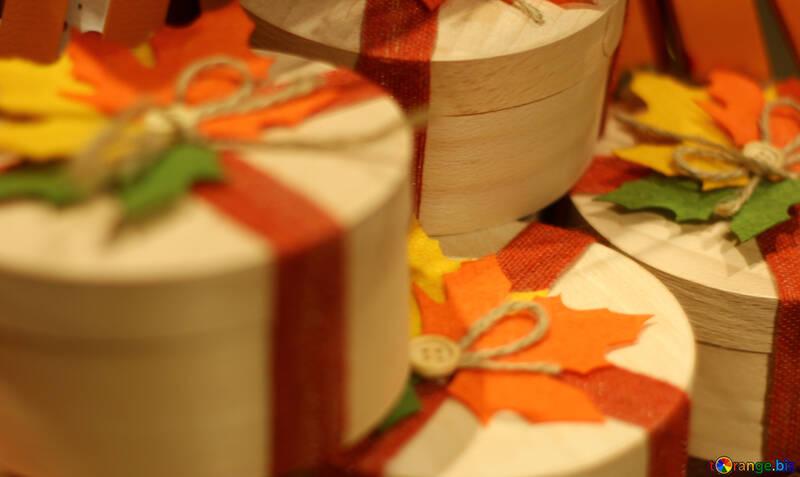 Fondo con regalos de otoño №49291