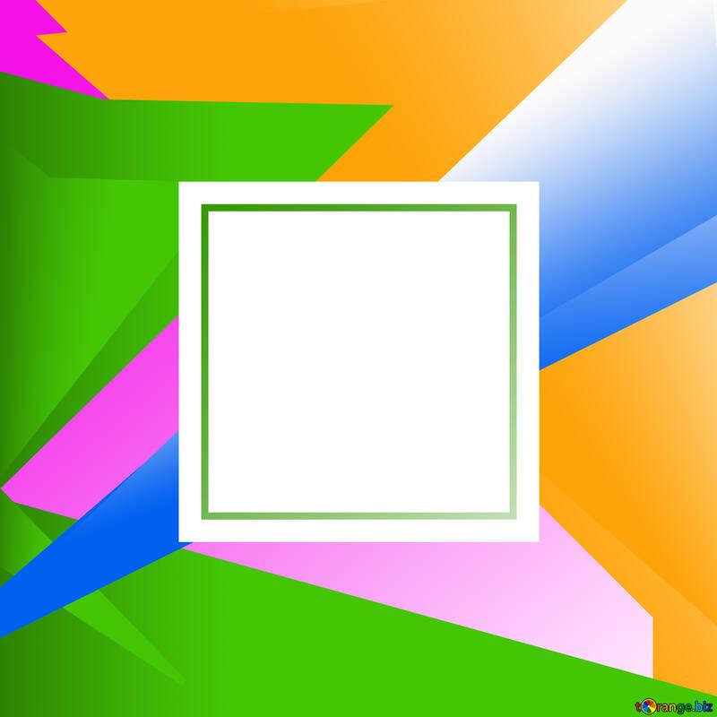 Colorful illustration template frame №49675