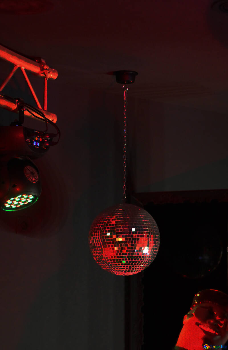 Glasball Lichtkugelspiegel rot №49297