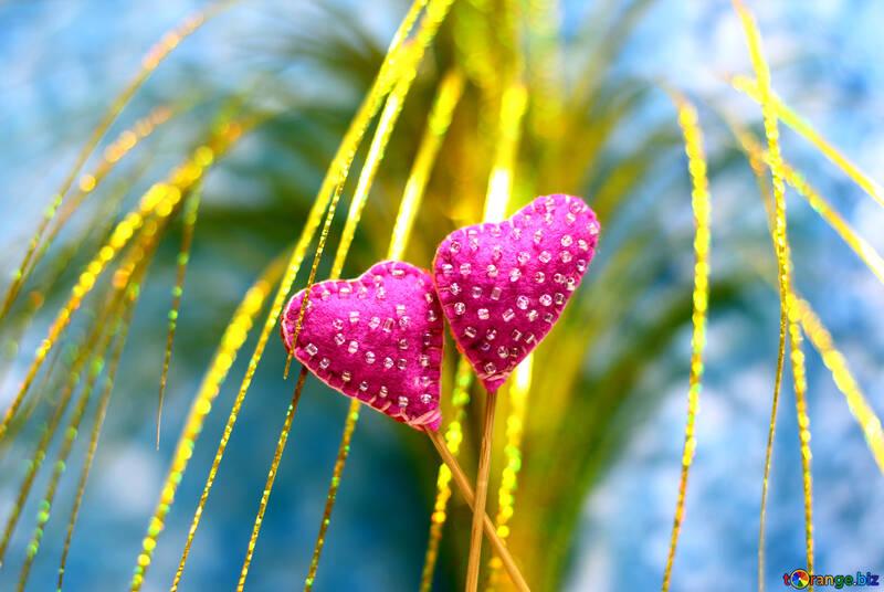 Hearts made of felt №49200