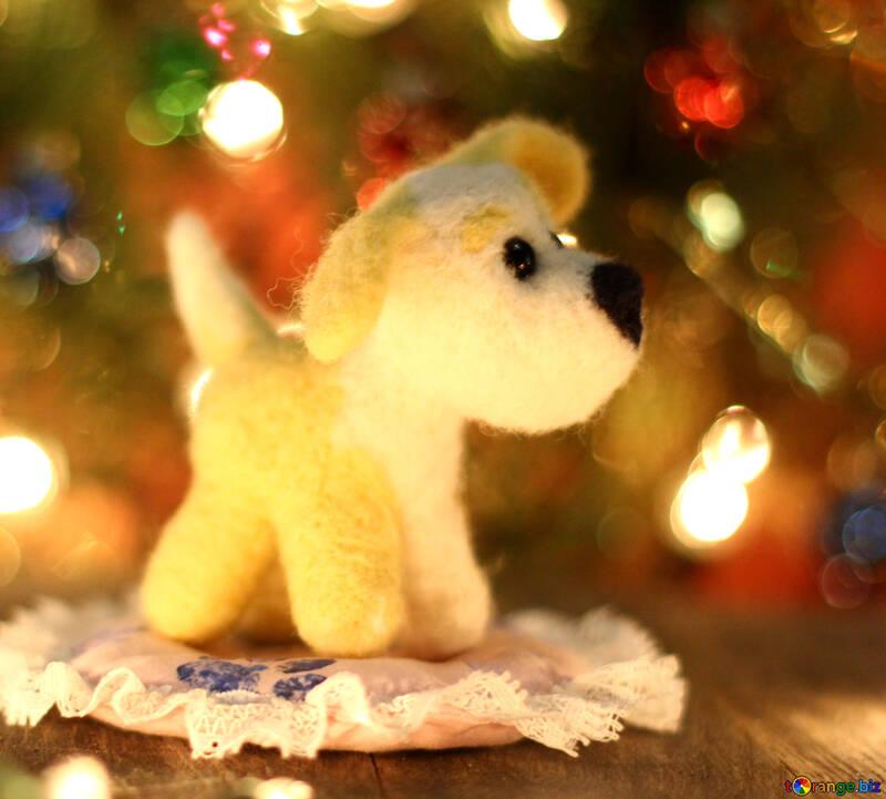 Symbol des neuen Jahres 2018 Welpenmongrelhunds.  №49623