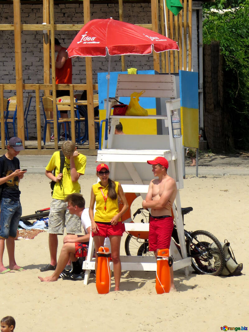 Rescuers on the beach №49923